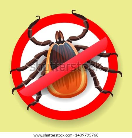 Araignée rouge allergie épidémie symbole parasite Photo stock © Hermione