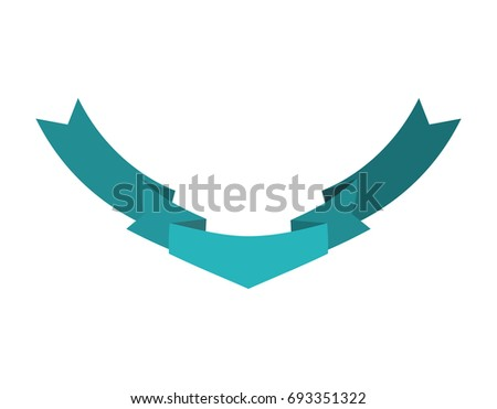 Ribbon isolated template blue. Decorative tape for heraldry. Ret Stock photo © popaukropa