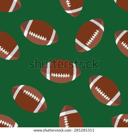set of american football patterns usa sports seamless background collection sport wallpaper with c stock photo © jeksongraphics