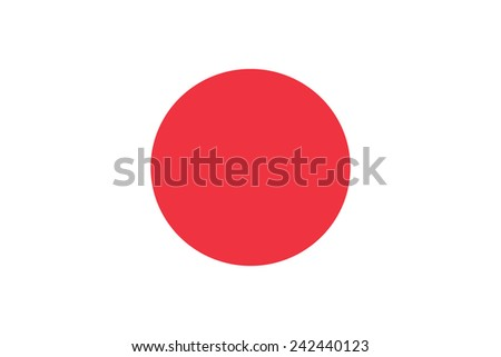 Japan Flag. Original proportions and oficial colors. High quality. Japanese symbol. Stock photo © JeksonGraphics