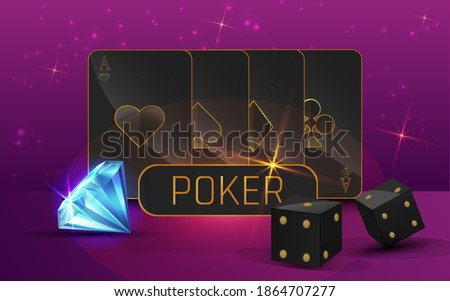 Roulette kaarten chips gouden munten abstract Stockfoto © day908