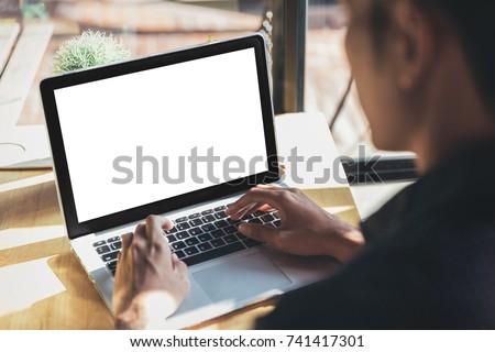 Computer screen in business concept foto stock © Elnur
