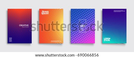 abstract colorful geometric background template brochure design stock photo © fresh_5265954