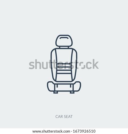 coche · batería · línea · icono · web · móviles - foto stock © decorwithme