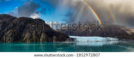 Rainbow Fall Color Rocky Mountains Glacier National Park Montana Stock photo © cboswell