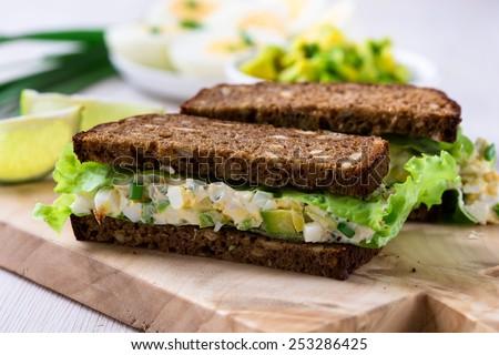 sağlıklı · ekmek · otlar · krem · peynir - stok fotoğraf © danielgilbey