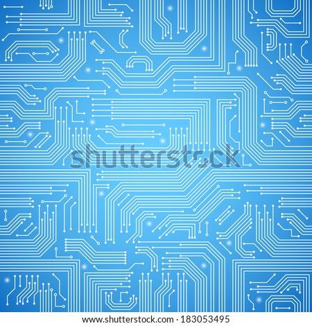 elétrico · eletrônico · circuito · diagrama · símbolos · conjunto - foto stock © almagami