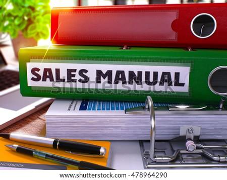 De vendas manual verde escritório dobrador imagem Foto stock © tashatuvango