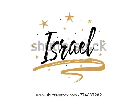 Israel flag and map. Israeli banner ribbon. Jewish Symbol of Sta Stock photo © popaukropa