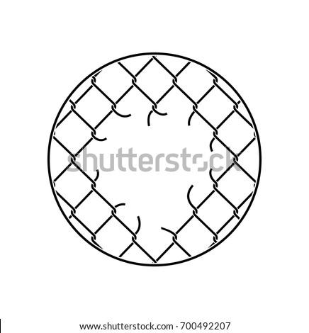 link · ogrodzenia · śniegu · wzór · łańcucha · świeże - zdjęcia stock © popaukropa
