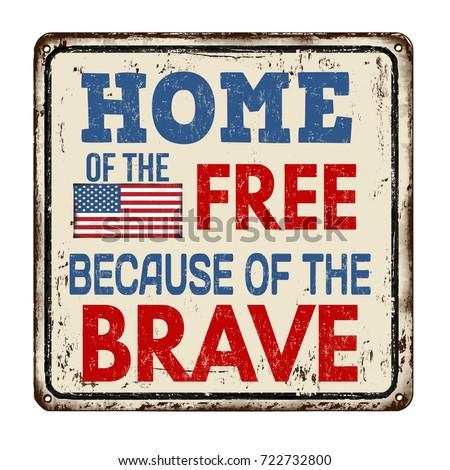 Home libero coraggiosi patriottico grunge tipografia Foto d'archivio © pashabo