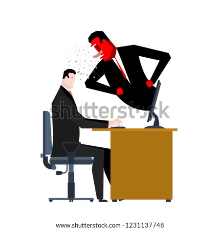 Boss yelling manager. director monitors work. Office life. Busin Stock photo © MaryValery