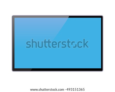 Screen Lcd Plasma Vector. Curved TV Modern Blank Led Screen Panel Isolated On White Background. Real Stock photo © pikepicture
