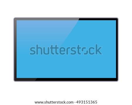 液晶 · テレビ · 静的 · 現代 · テレビ · コンピュータモニター - ストックフォト © pikepicture