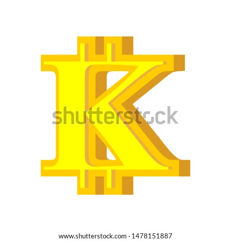 K letter bitcoin font. Cryptocurrency alphabet. Lettering virtua Stock photo © popaukropa