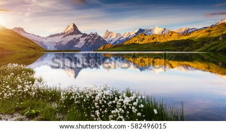 表示 湖 場所 ストックフォト © Leonidtit