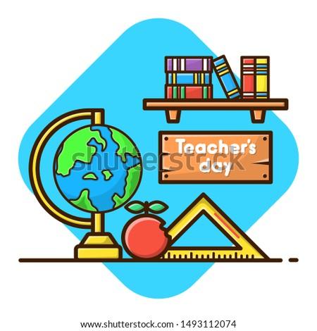 Vissza az iskolába ikon gyűjtemény rajz stílus oktatás gyűjtemény Stock fotó © lucia_fox