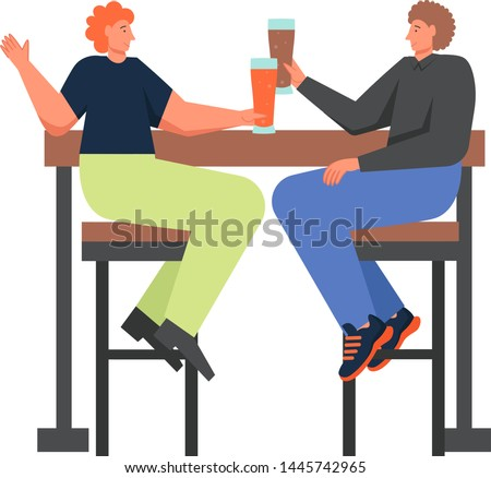 Drunk Office Man Vector. Funny Friends. Relaxing Concept. Business Party. Cartoon Character Illustra Stock photo © pikepicture