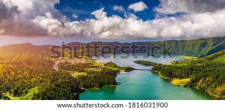 Hét városok kikötő égbolt felhők természet Stock fotó © hsfelix