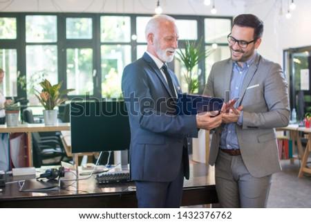 zakenman · lezing · kantoor · man · onderwijs - stockfoto © is2