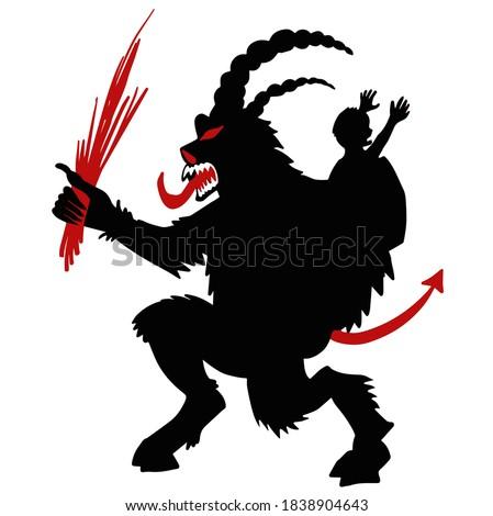 vermelho · desenho · animado · monstro · ranzinza · assustador - foto stock © popaukropa