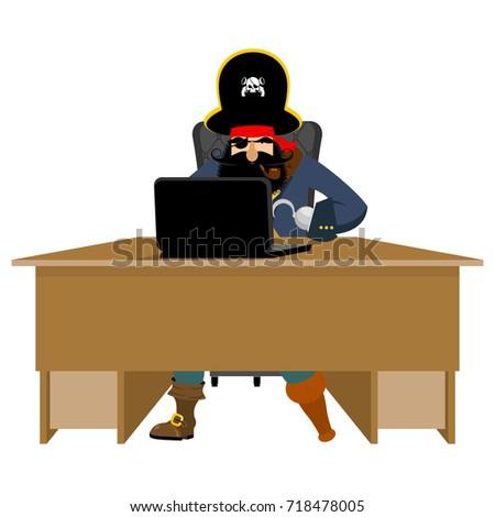 ウェブ 海賊 ノートパソコン インターネット ハッカー pc ストックフォト © popaukropa