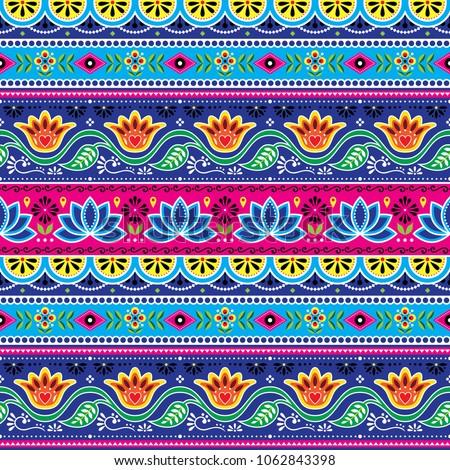 Vetor floral sem costura arte padrão indiano Foto stock © RedKoala