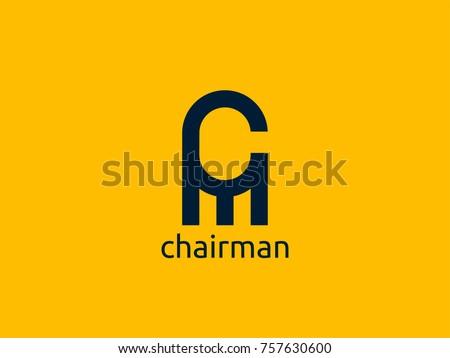 Lettera logo abstract sedia mobili design Foto d'archivio © taufik_al_amin