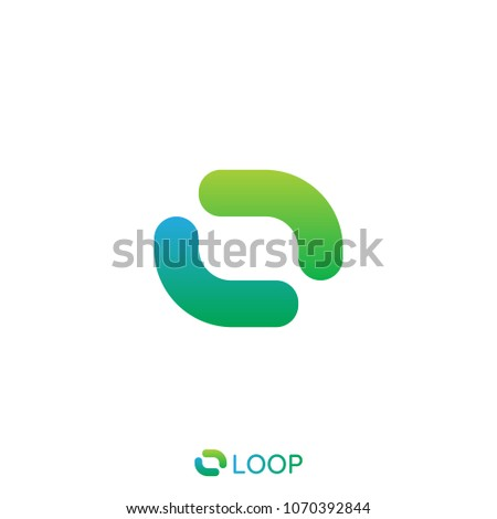 loop square box letter o logo. nature logo concept. vector illustration. Stock photo © taufik_al_amin