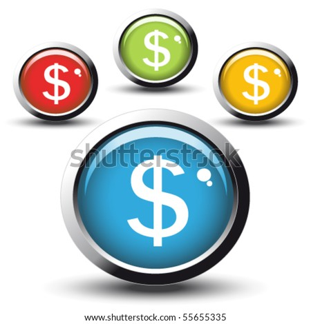 Dollar Sign Round Vector Web Element Circular Button Icon Design Stock photo © rizwanali3d