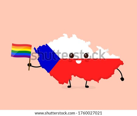 Czech Republic LGBT flag. Czech Symbol of tolerant. Gay sign rai Stock photo © popaukropa
