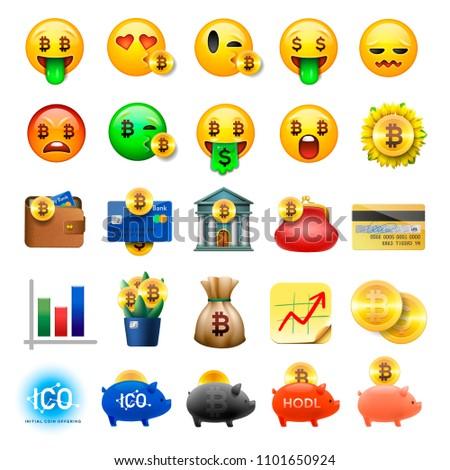 bitcoin · valuta · kleurrijk · iconen · rechthoek - stockfoto © ikopylov