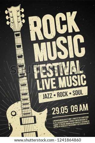 рок фестиваля концерта вечеринка Flyer плакат Сток-фото © Zoa-Arts