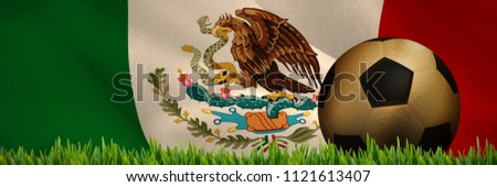 Grass growing outdoors against digitally generated mexican national flag Stock photo © wavebreak_media