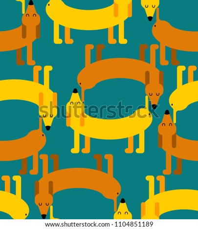 Dog pattern. Dogs sniff each other. Pet ornament vector illustra Stock photo © MaryValery
