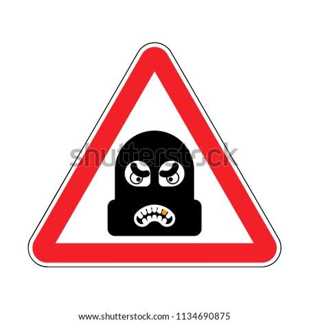 Attenzione rapinatore cautela scassinatore rosso Foto d'archivio © popaukropa