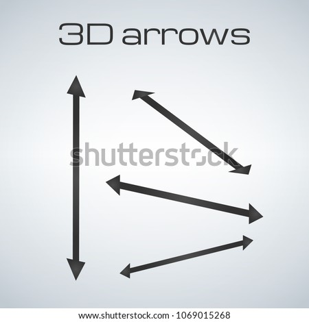 Сток-фото: Simple Double Sided Arrows In Different Directions For 3d Presen