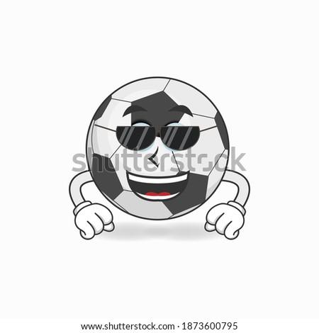 Szczęśliwy piłka maskotka cartoon charakter okulary Zdjęcia stock © hittoon