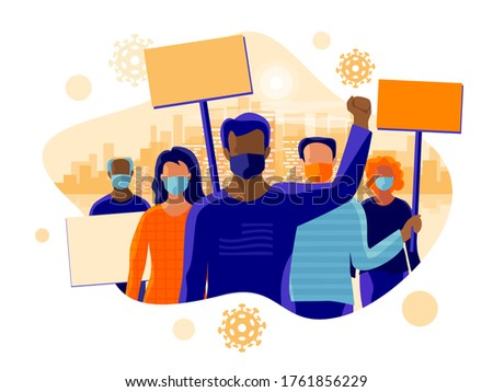 african man protest against polluted air isolate on white backg stock photo © studiostoks