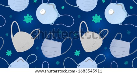 Viruses seamless pattern. Germs ornament. Disease background. Ve Stock photo © MaryValery