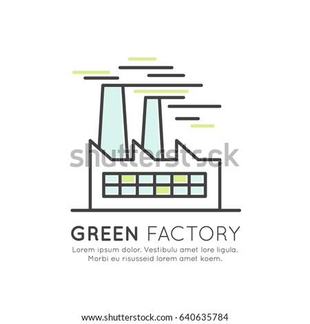 öko gyártás modern vékony vonal terv Stock fotó © Decorwithme