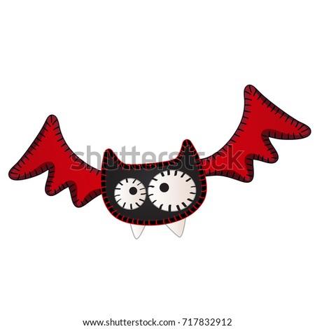 Funny pływające bat kontury formularza kropkowany Zdjęcia stock © Lady-Luck