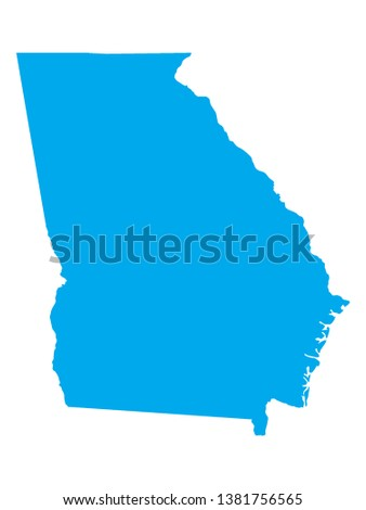 Georgia State vector map silhouette isolated on white background. Stock photo © kyryloff