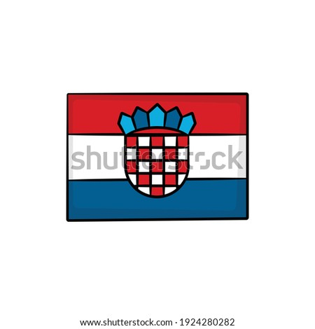 hand drawn national flag of croatia isolated on a white background vector sketch style illustration stock photo © garumna