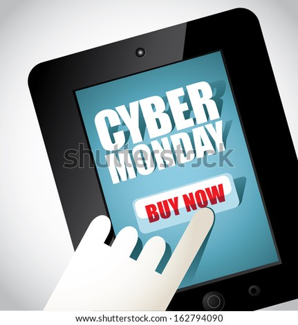 Black Friday and Cyber Monday sales tag. Vector, grouped for easy editing. Sale, discount, advertisi Stock photo © olehsvetiukha