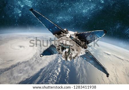 űr · műhold · ellenőrzés · Föld · pálya · időjárás - stock fotó © cookelma