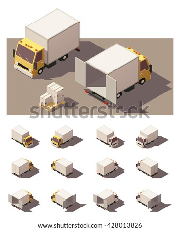 Commercial Vehicle. Isometric Vector Illustration in Four Dimensions. Stock photo © tashatuvango