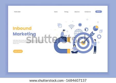 Isometric flat vector concept of digital inbound marketing strategy. Stock photo © TarikVision