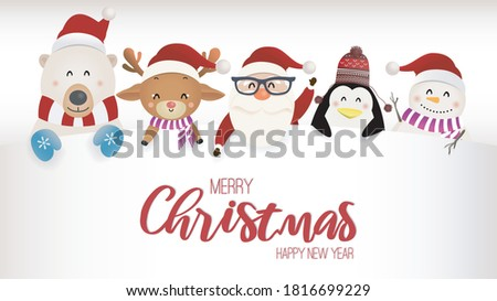 Cute мало пингвин большой веселый Рождества Сток-фото © ori-artiste