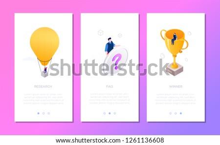 Foto stock: Negócio · conjunto · isométrica · vetor · vertical · teia